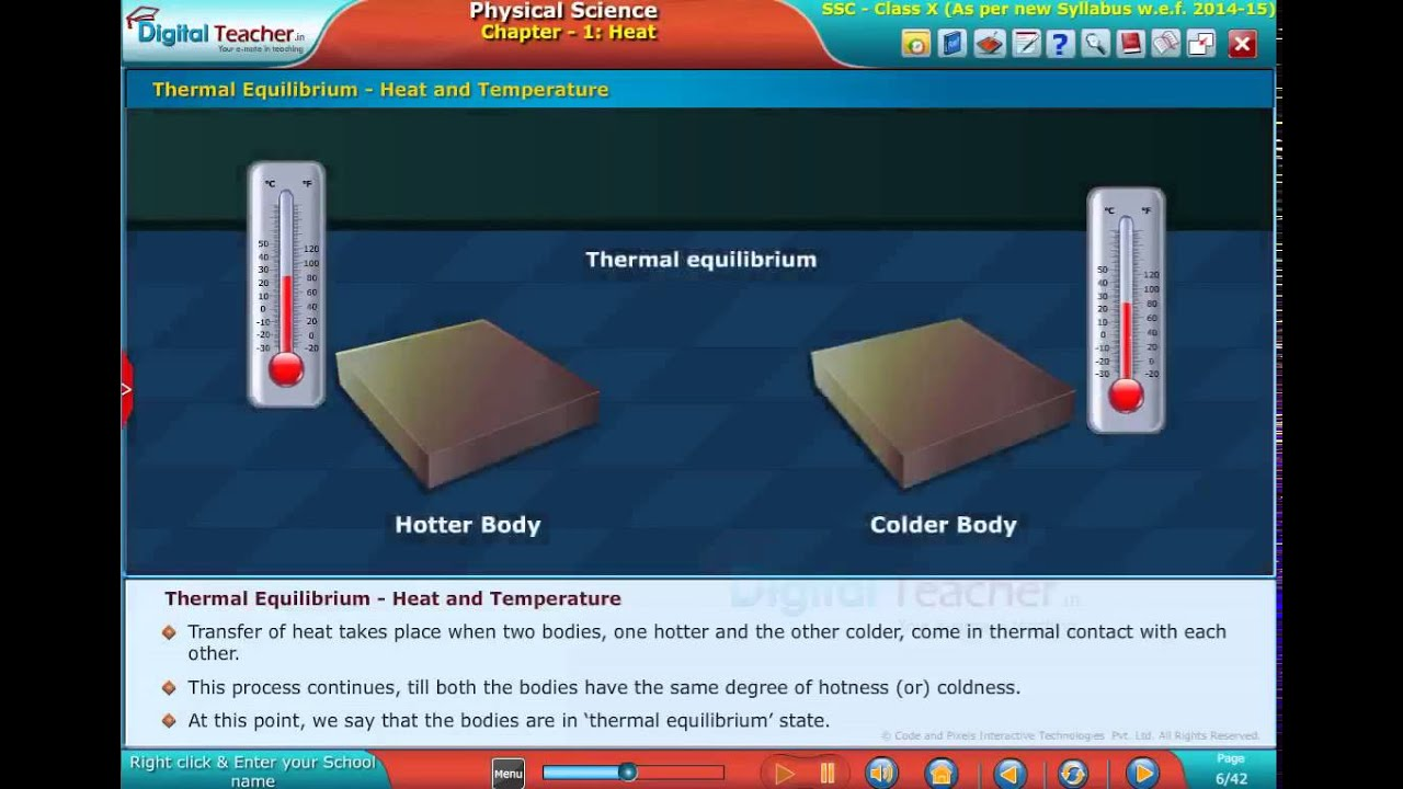 Digital Teacher SSC Class X Physical Science Thermal Equilibrium ...