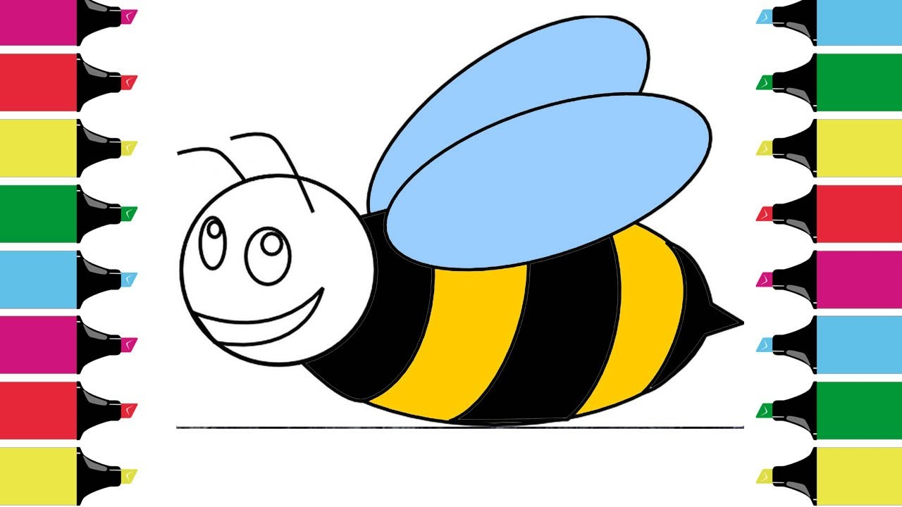 coloring for children honeybee how to draw drawing and
