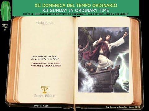 Gesù calma la tempesta.Perchè avete paura? Non avete ancora fede?