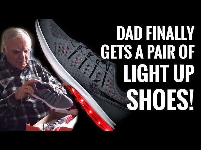 A Dad Got Our Light Up Shoes, His Reaction Is Priceless!