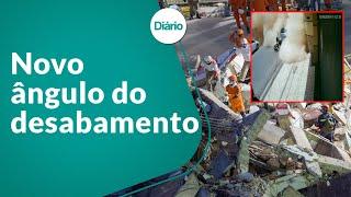Novo vídeo mostra momento do desabamento de prédio em Fortaleza