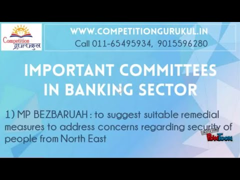 Important Committees in Banking Sector - Gurukul Competititon