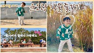 육아 브이로그:) 윤오랑 가을 즐기기 | 18개월 아기…
