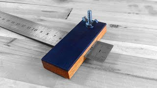 Making A Marking Gauge - merbau And ebony