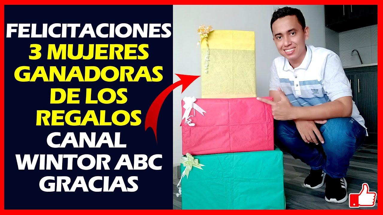 Download Felicitaciones 3 Mujeres Ganadoras de los Regalos Canal Wintor ABC   Muchas Gracias Bendiciones !!!