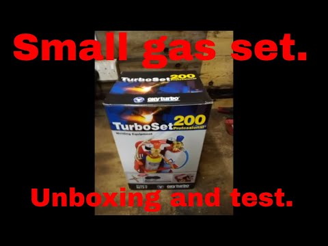 Oxyturbo 200. Gas set. Unboxing and test.