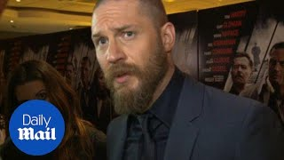 Tom Hardy talks acting inspiration at Child 44 premiere - Daily Mail