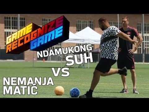 Ndamukong Suh vs. Nemanja Matić in a Kicking & Tackling Skills Competition | Game Recognize Game