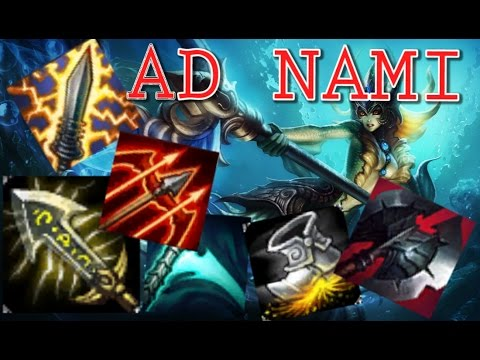 AD Nami - Testing Builds in ARAM - League of Legends