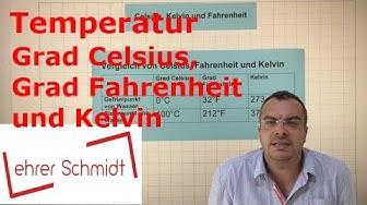 Grad Celsius - Grad Fahrenheit und  Kelvin   Temperatur   Physik   Lehrerschmidt