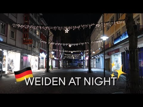 Walking and Driving Around Weiden at Night || Germany Vlog