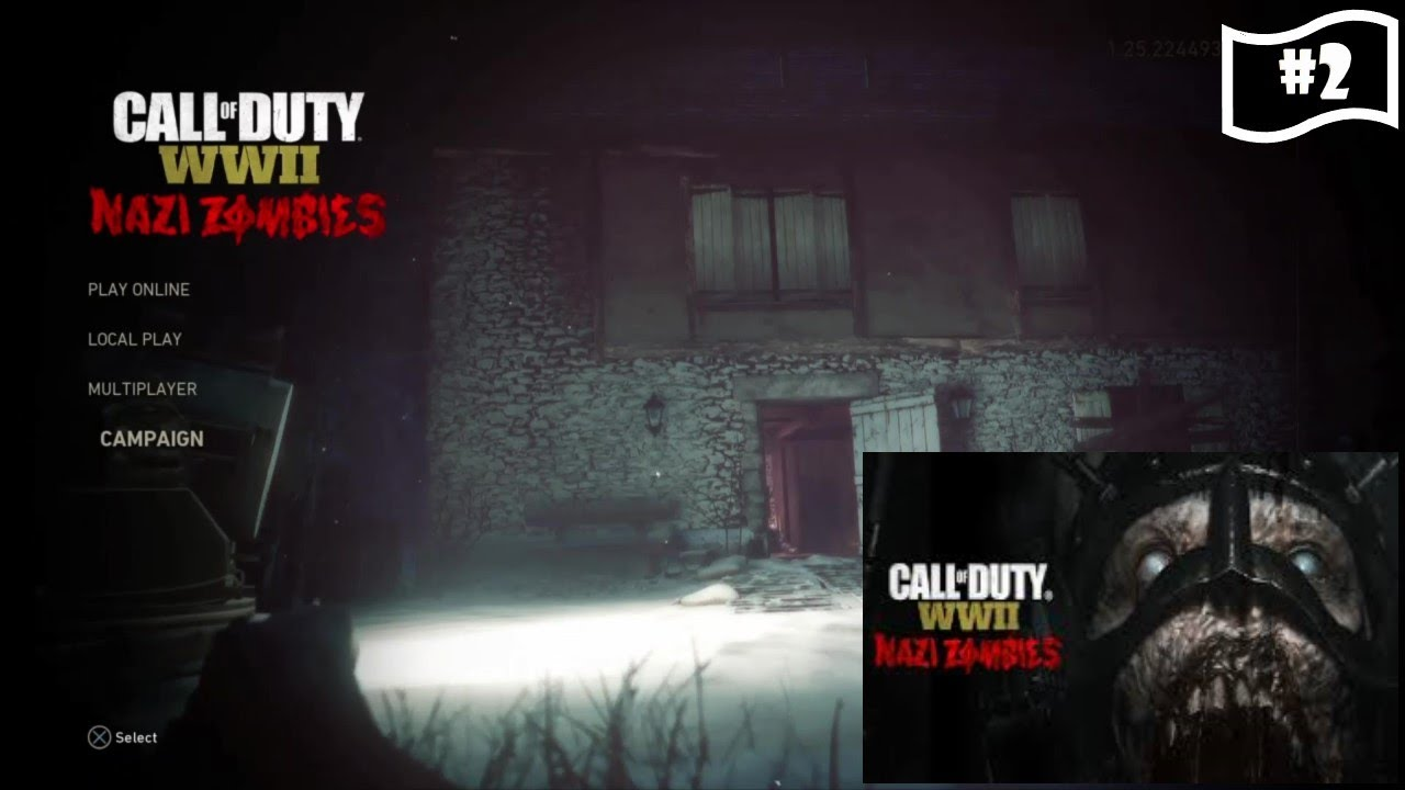 Call of Duty WWII Gameplay #2  Zombies!!