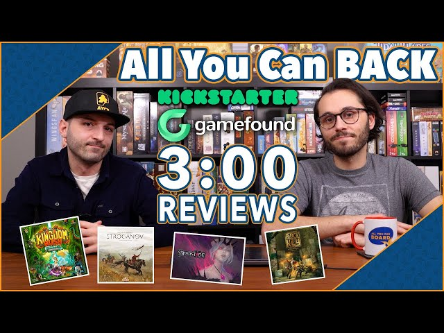 6 EXCITING Crowdfunding Games in 3 MINS! | All You Can Back #1 | (Bloodstone, Kingdom Rush + MORE!)