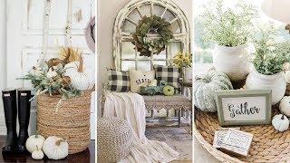 ❤diy Farmhouse Style Neutral Fall Decor Ideas❤ | Home Decor & Interior Design| Flamingo Mango