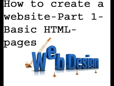how to create a website using html on notepad pdf