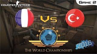 CS:GO World Championship 2016 - France Vs Turkey [Game 2] (Semi-Final)