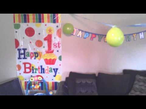 Kaidens First Birthday Party Decorations