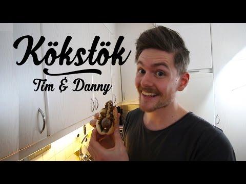 Baconinlindad korv med bröd! | Kökstök med Tim & Danny
