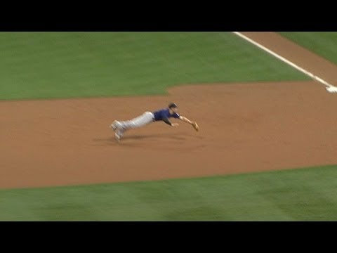 Arenado dives for a nice catch at third base