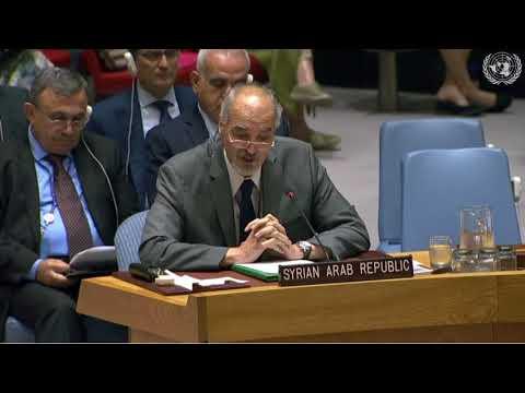 بيان السفير د. بشار الجعفري في جلسة مجلس الأمن حول الأسلحة الكيميائية 6-9-2018