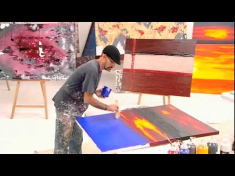 HOW TO PAINT ABSTRACT WALL ART Art lessons - YouTube