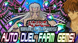 RAID DUEL! BEST AUTO DUEL METHOD TO FARM GEMS! | YuGiOh Duel Links
