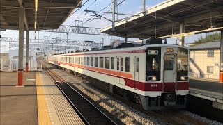 東武6050系6159編成が到着するシーン
