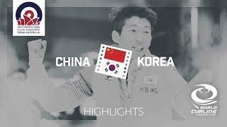 HIGHLIGHTS: China v Korea - Men gold medal - Pacific-Asia Curling Championships 2017 thumbnail