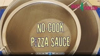 No Cook Pizza Sauce - Quick And Easy Pizza Sauce That Tastes Like Heaven! From Whats4chow.com