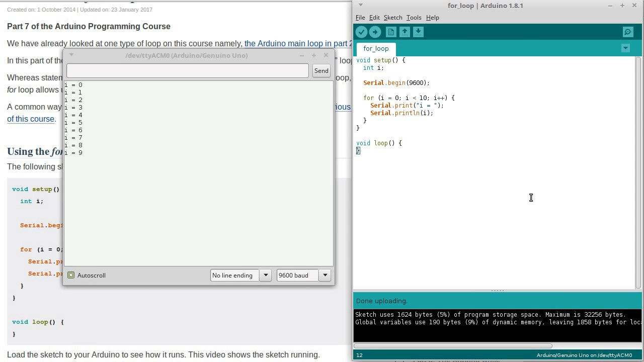 Arduino For Loops | Programming Course Part 7