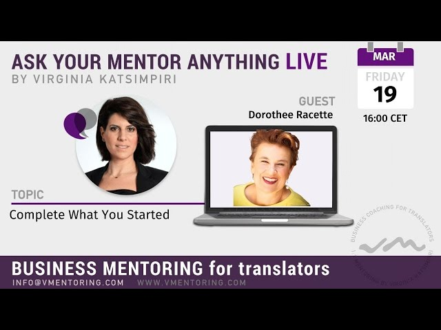 Ask Your Mentor Anything Live with Virginia Katsimpiri FT. Dorothee Racette