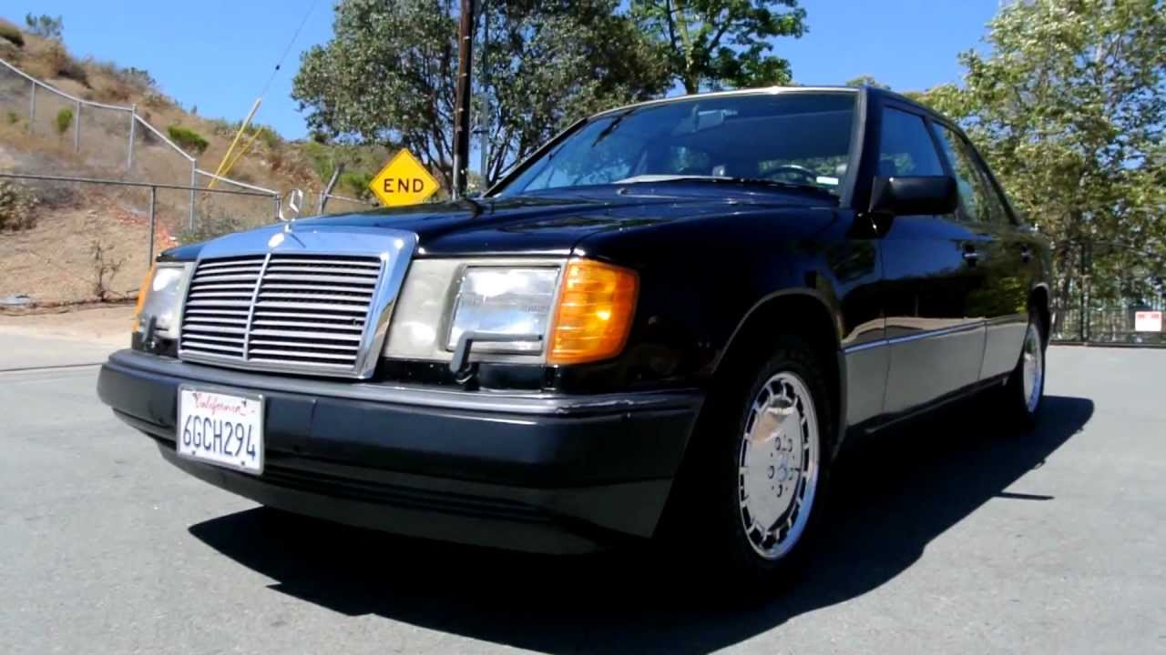 1990 Mercedes Benz 300E 94k Mi 2 Owner W124 Black Sports Sedan 300
