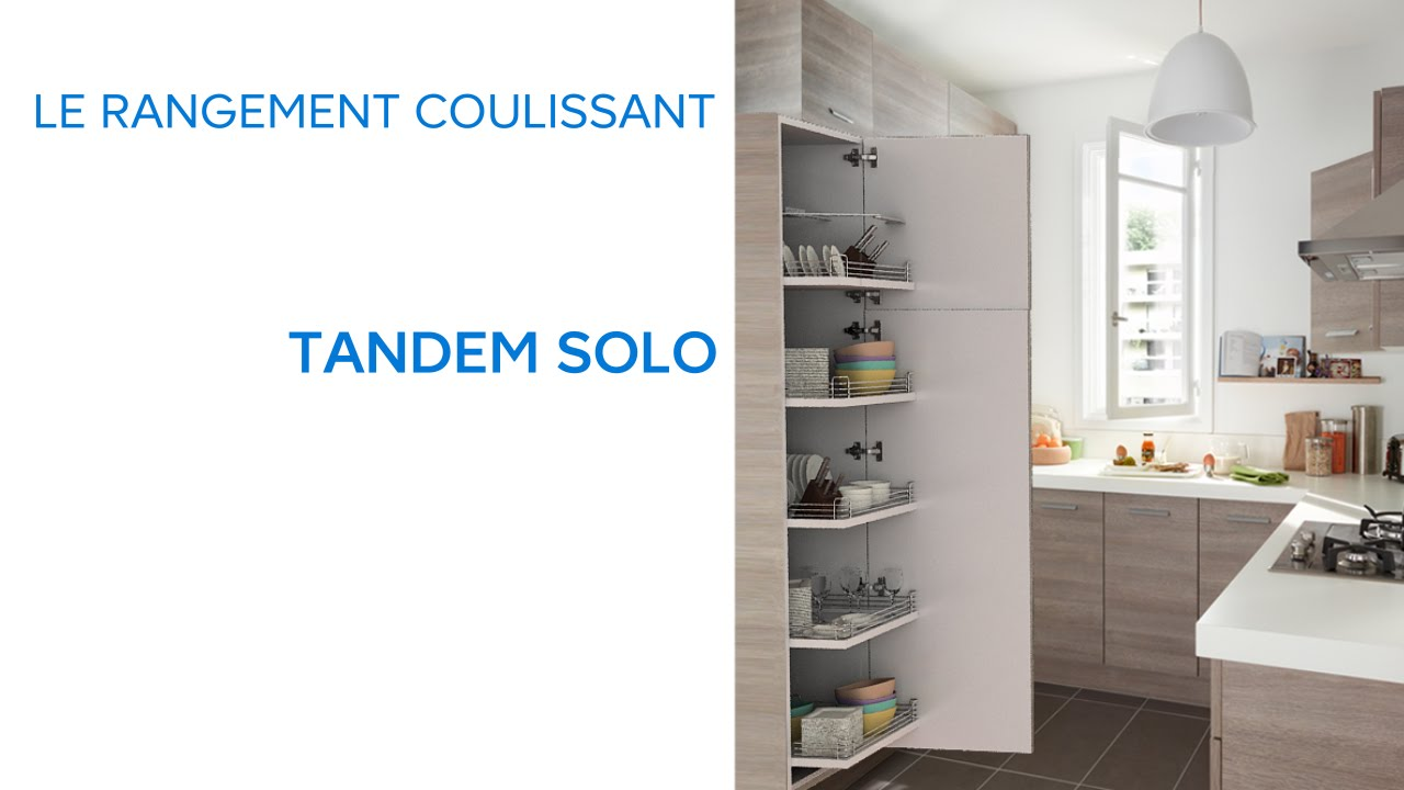 rangement coulissant tandem solo 652233 castorama youtube. Black Bedroom Furniture Sets. Home Design Ideas