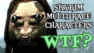 ZOMBIE JARL and MULTI-RACE CHARACTERS? Famous Faces Of Skyrim Mod/Messing With Skyrim AGAIN!