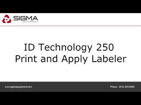 ID Technology 250 Print and Apply Labeler