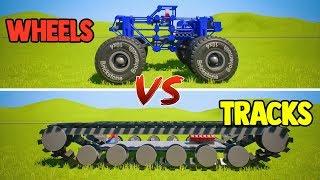 Monster WHEELS vs TRACKS | Brick Rigs