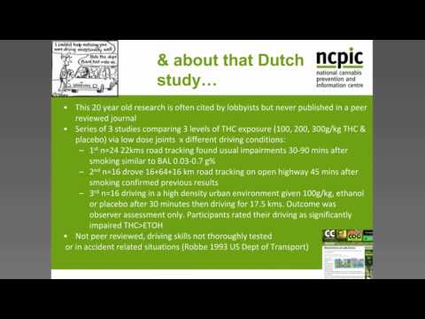 NCPIC Webinar Cannabis and Driving: Evidence and Intervention