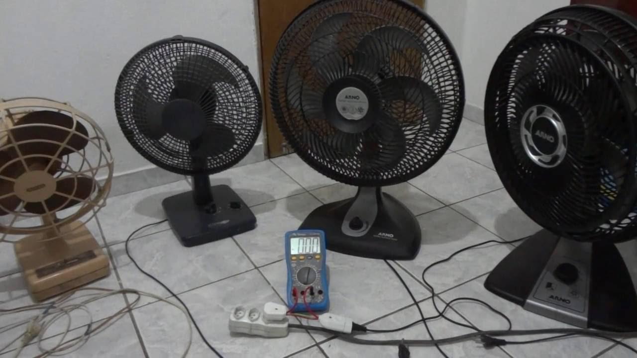 Teste consumo el trico ventiladores arno youtube - Fotos de ventiladores ...