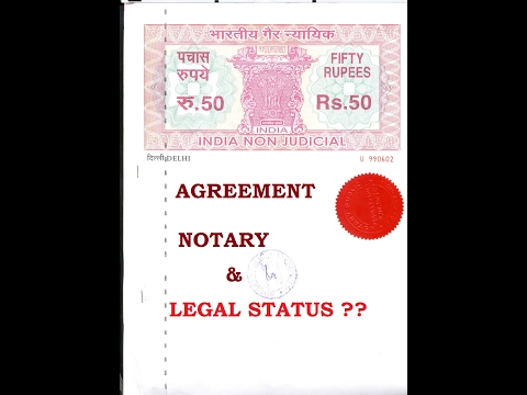 what is notary agreement ? नोटरीकरार आणि त्याचा कायदेशीर दर्जा by Adv   Tanmay Ketkar