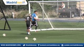 Real Madrid training ahead of Cordoba Match
