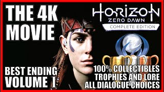 HORIZON ZERO DAWN: THE 4K MOVIE 100% Collectibles Trophies, Dialogues & Lore Vol.1 THE FROZEN WILDS