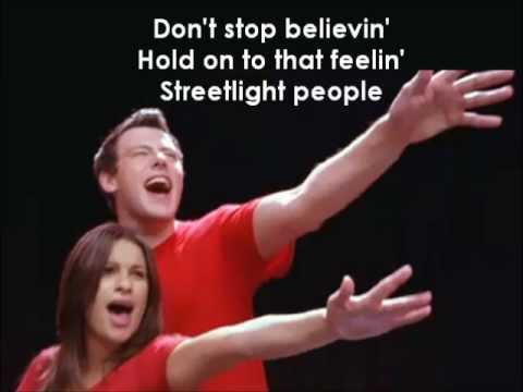 Glee - Don't Stop Believing (Lyrics)