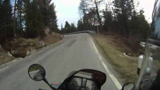 Pass Pordoi Uphill on the BMW K75