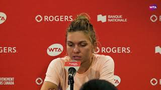 Halep 'It was an amazing effort!' | 2018 Rogers Cup Final Press Conference