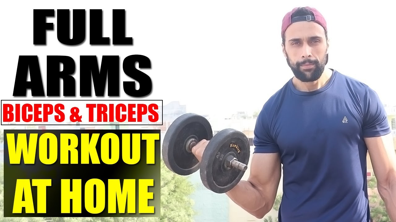 Full Arm Workout ( Biceps And Triceps ) With Dumbbells At Home | Lockdown Arms Workout
