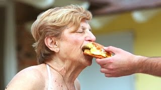 84-Year-Old Grandma Auditions for Carl's Jr. Ad in Bathing Suit