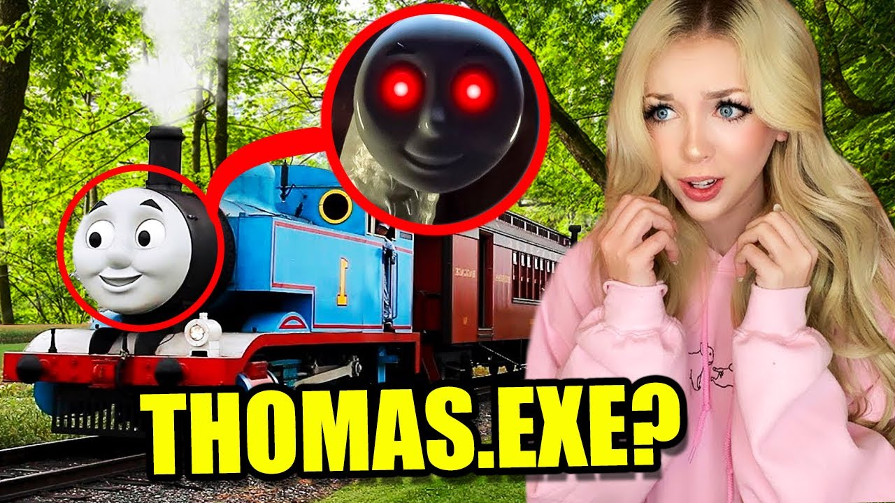 If You See THOMAS THE TRAIN.EXE at Abandoned Railroad Tracks, RUN AWAY FAST!! (SCARY)
