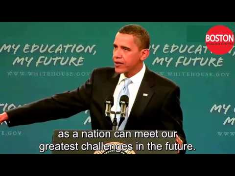 President Obama Makes Historic Speech to America's Students  -  English subtitles