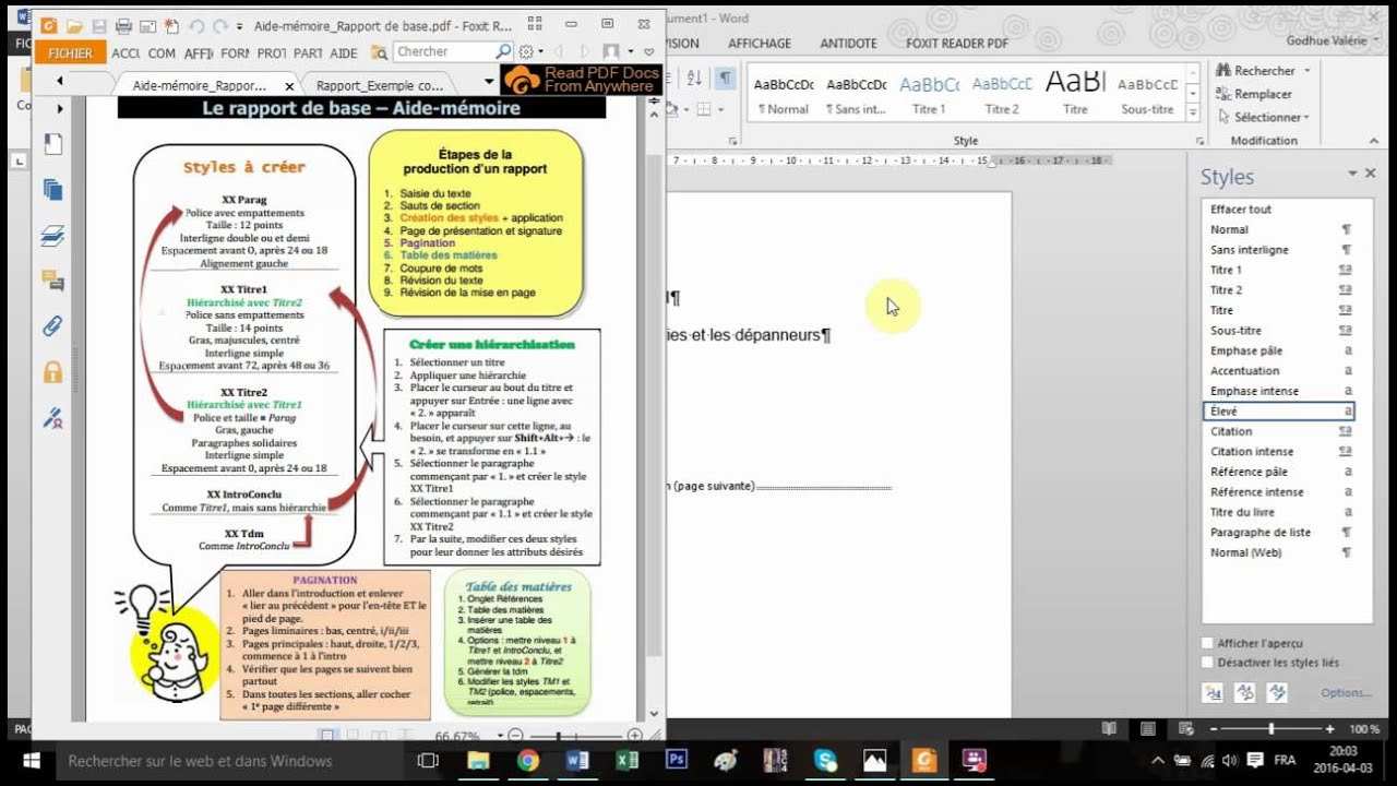 exemple de rapport de stage en pdf
