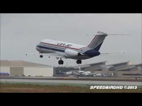 USA Jet Airlines McDonnell Douglas DC-9-15RC [N196US] Takeoff From LAX